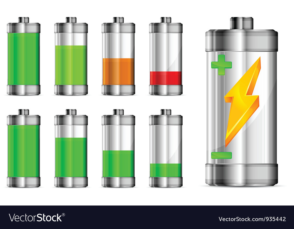 Battery charge vector | Price: 3 Credit (USD $3)