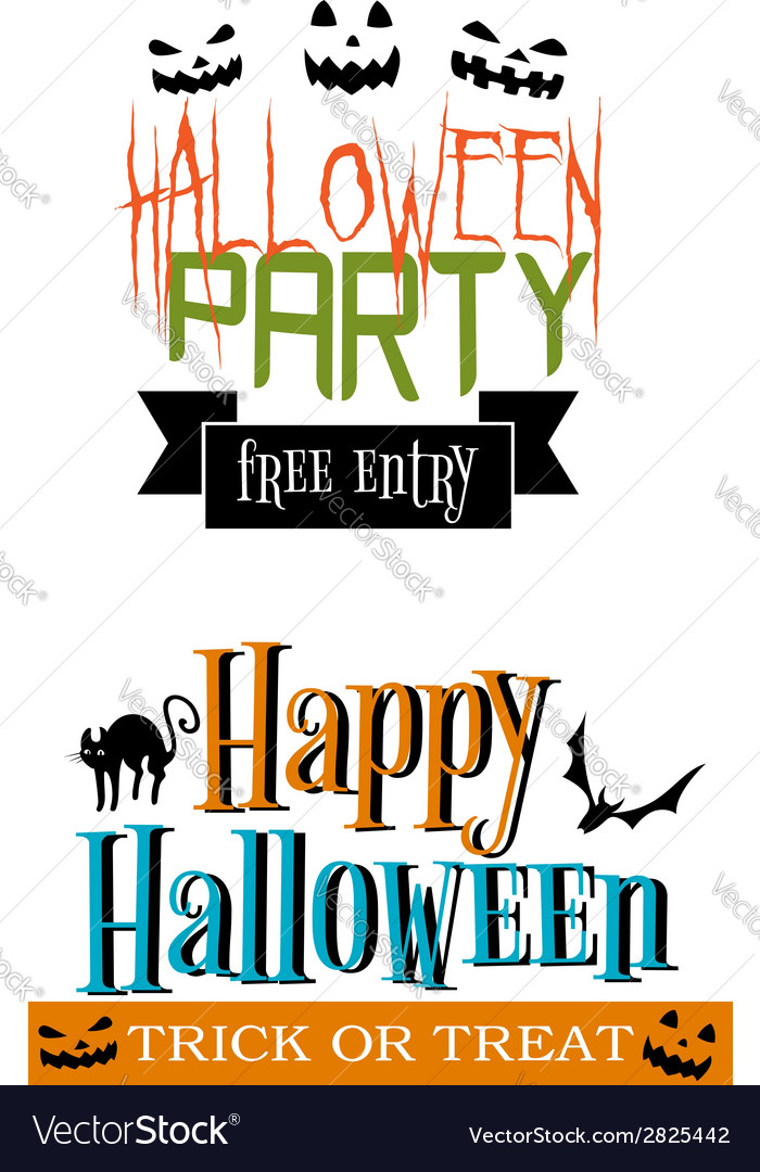 Halloween party banners vector | Price: 1 Credit (USD $1)