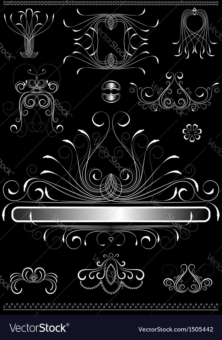 Original white calligraphic frame vector | Price: 1 Credit (USD $1)
