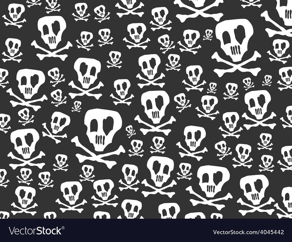 Seamless skulls and bones background vector | Price: 1 Credit (USD $1)
