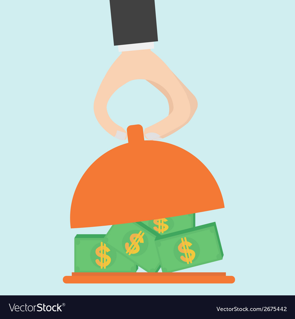 Serving money vector | Price: 1 Credit (USD $1)