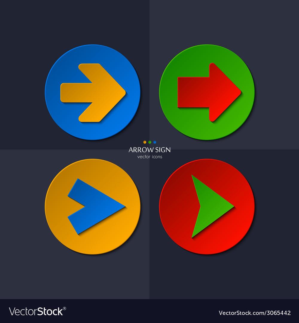 Set of arrow signs vector | Price: 1 Credit (USD $1)