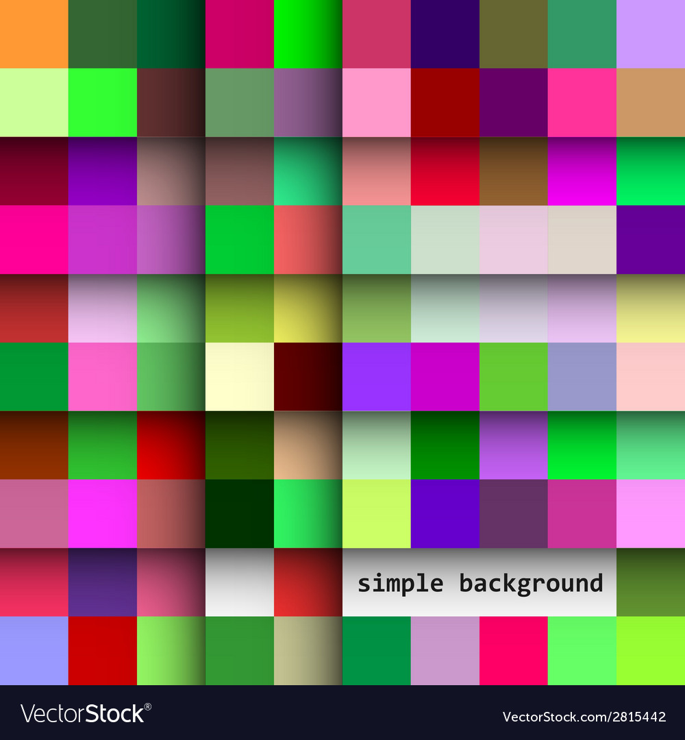 Simple background of colored squares and shadows vector | Price: 1 Credit (USD $1)