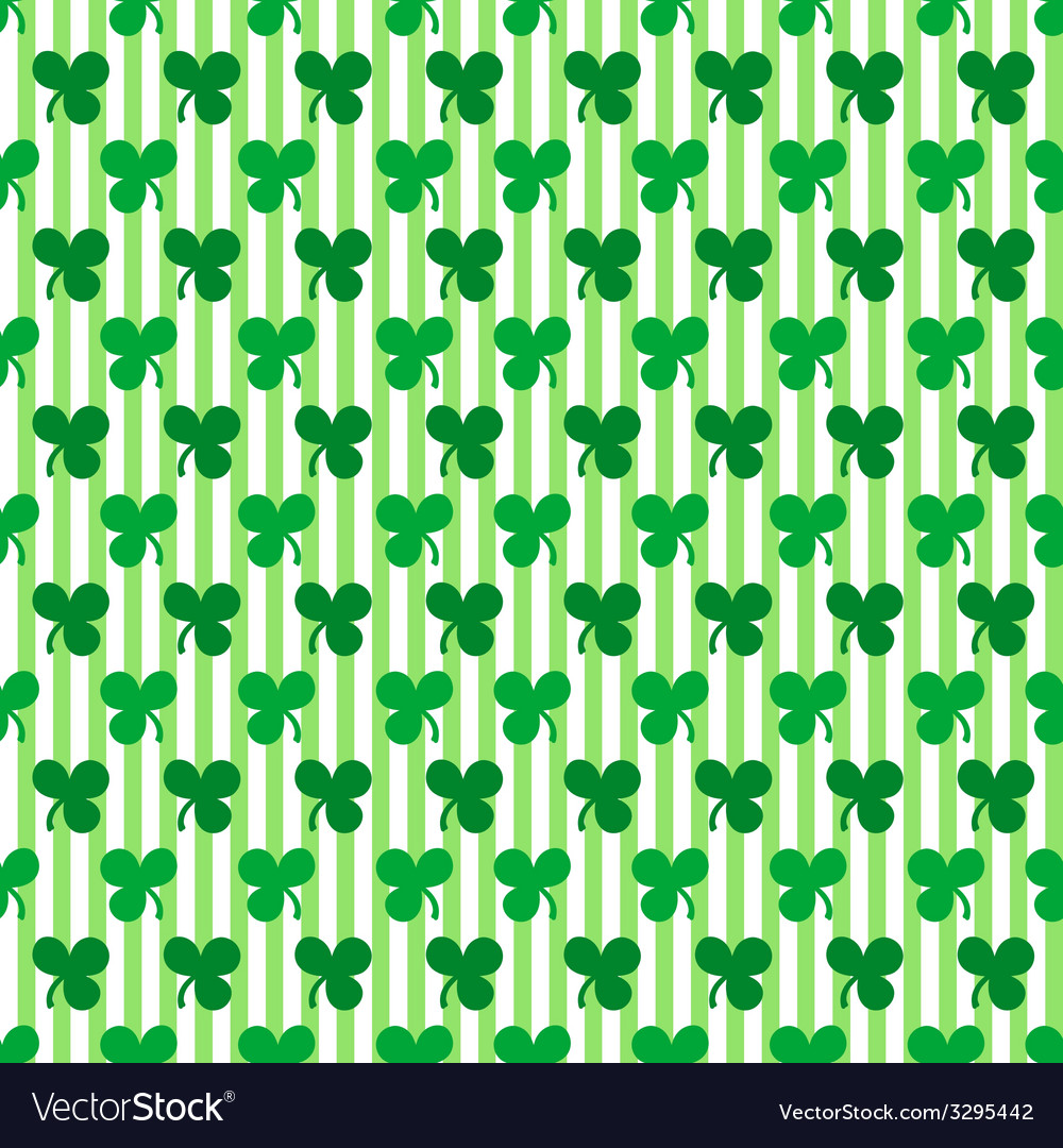 St patricks day seamless pattern vector | Price: 1 Credit (USD $1)