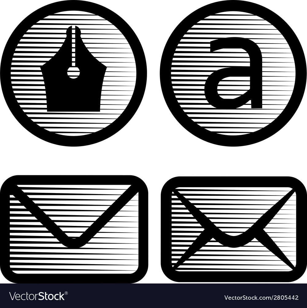 Striped email symbols vector | Price: 1 Credit (USD $1)