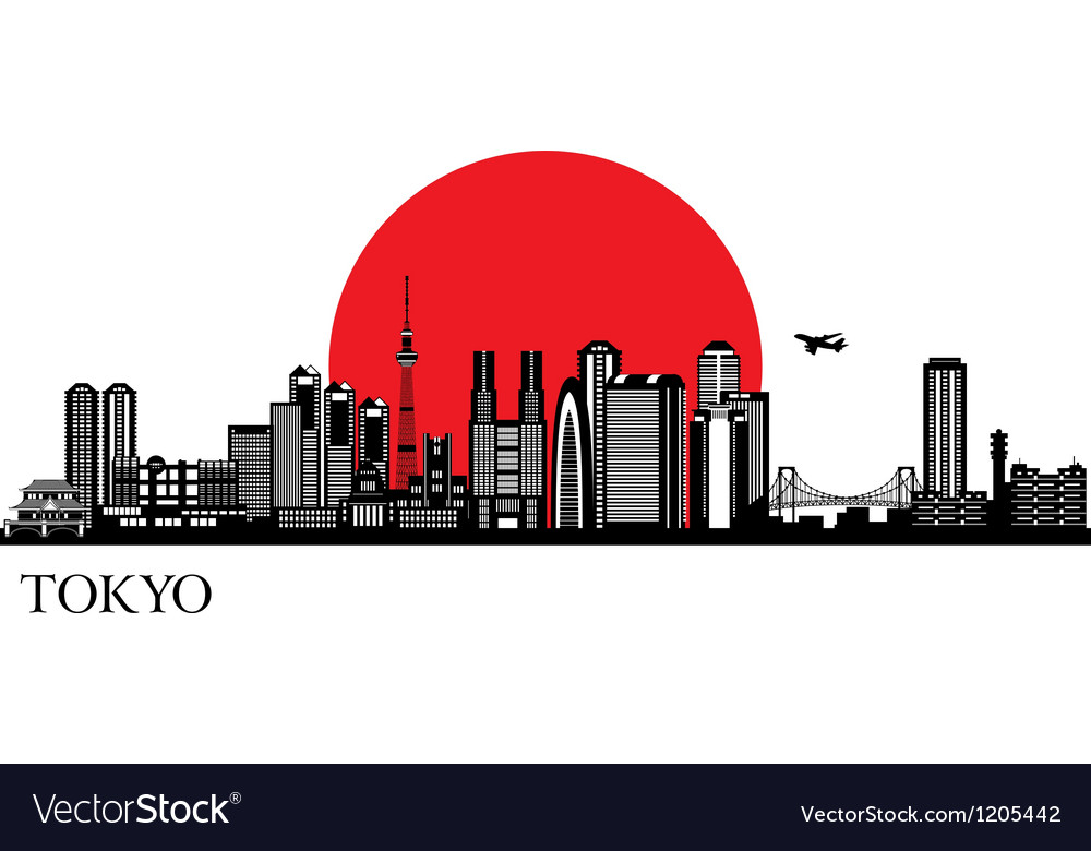 Tokyo city silhouette skyline vector | Price: 1 Credit (USD $1)
