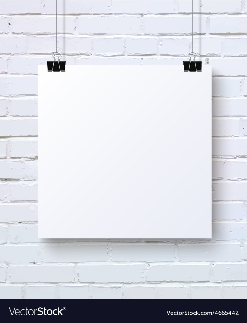 White square blank piece of paper on the white vector | Price: 1 Credit (USD $1)
