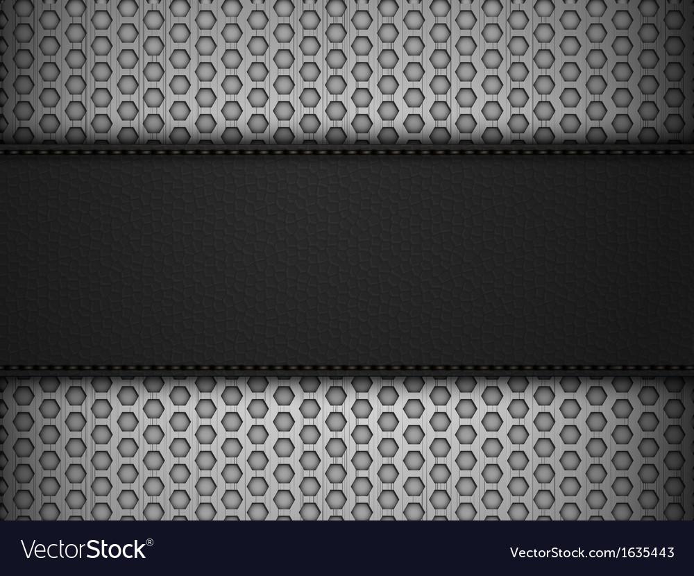 Black leather panel on black mesh landscape vector | Price: 1 Credit (USD $1)