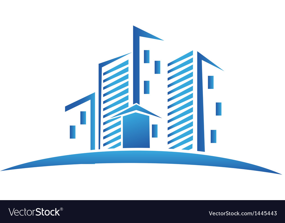 Buildings real estate logo vector | Price: 1 Credit (USD $1)