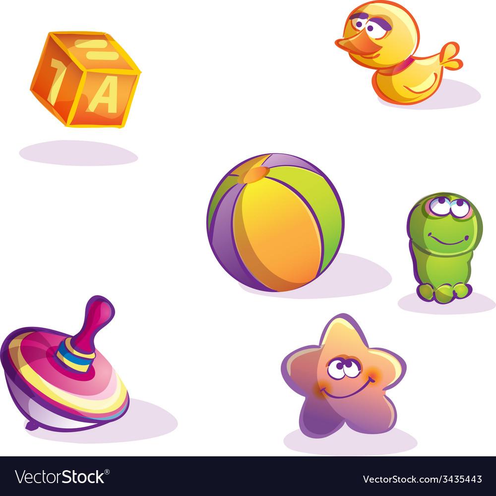 Cartoon toys vector | Price: 1 Credit (USD $1)