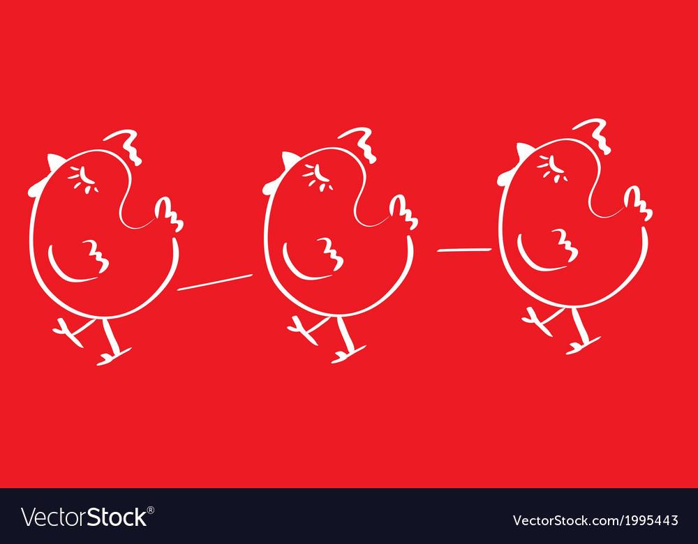 Chicken logo vector | Price: 1 Credit (USD $1)