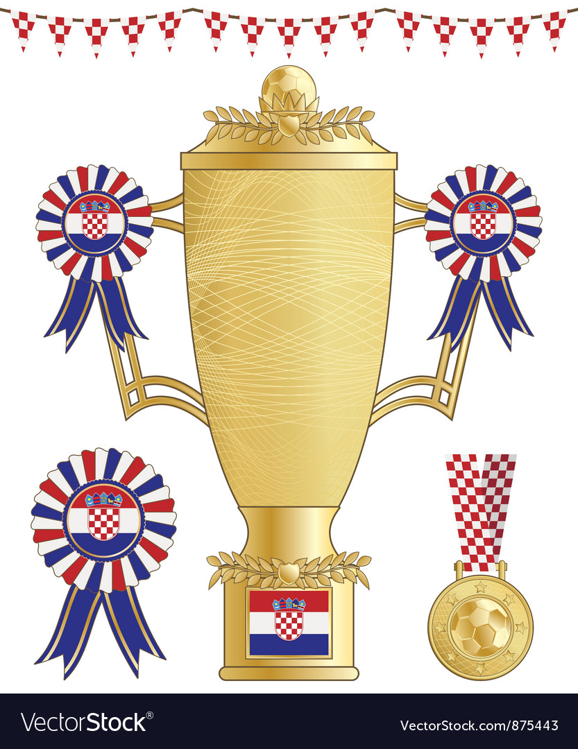 Croatia football trophy vector | Price: 1 Credit (USD $1)