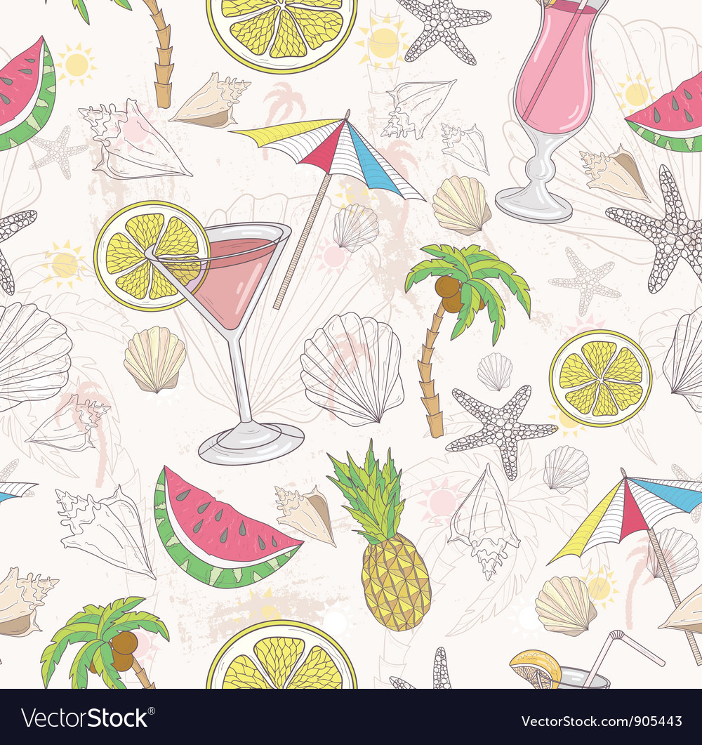 Cute summer abstract pattern vector | Price: 3 Credit (USD $3)