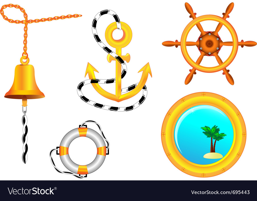 Nautical collection vector | Price: 1 Credit (USD $1)
