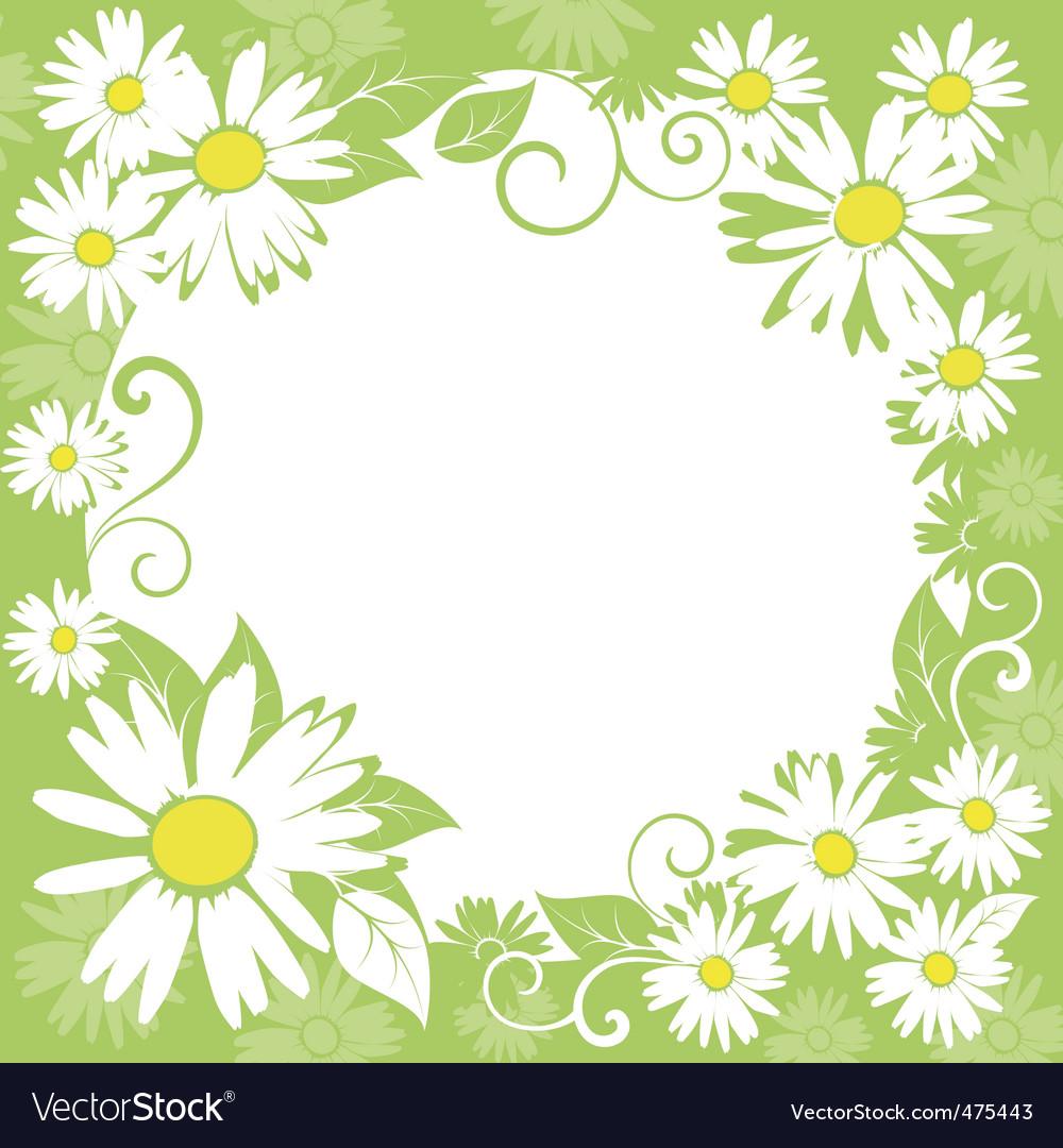 Spring floral border vector | Price: 1 Credit (USD $1)