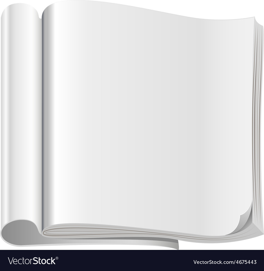 Template white open magazine vector | Price: 1 Credit (USD $1)