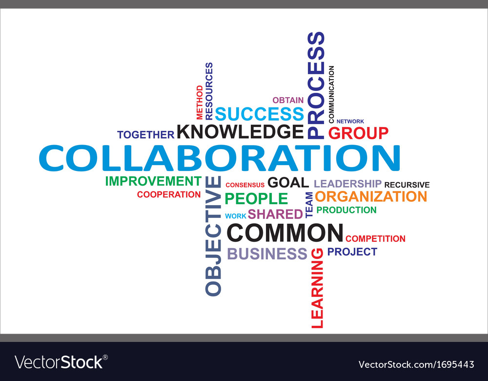 Word cloud collaboration vector | Price: 1 Credit (USD $1)