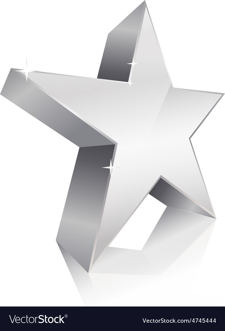 3d star silver vector | Price: 1 Credit (USD $1)