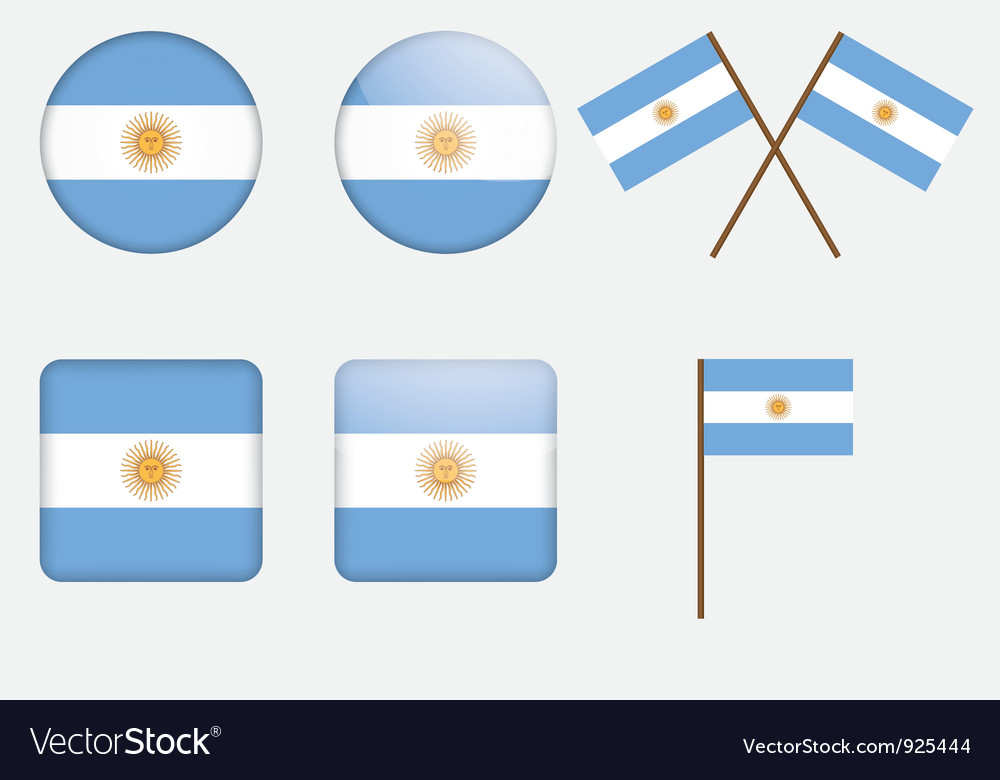 Badges with flag of argentina vector | Price: 1 Credit (USD $1)