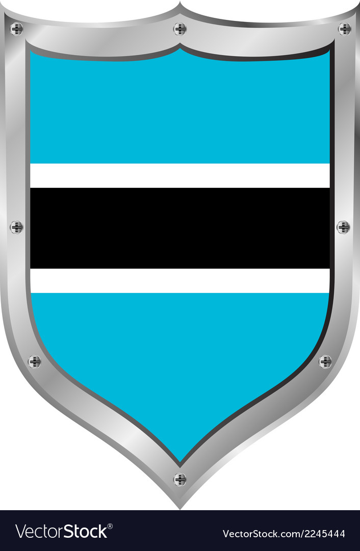Botswana flag button vector | Price: 1 Credit (USD $1)
