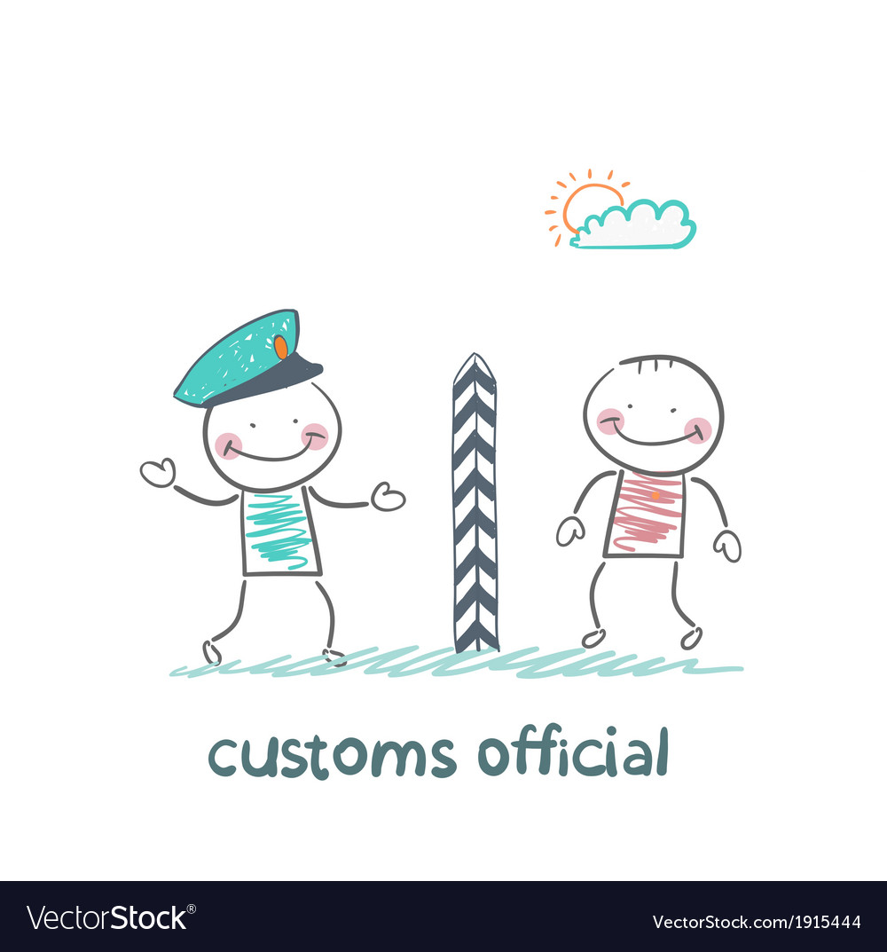 Customs official says the man vector | Price: 1 Credit (USD $1)