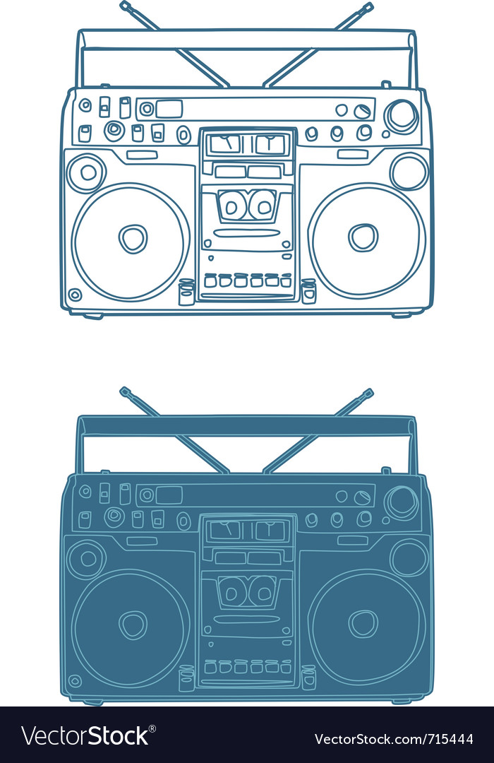 Ghettoblaster vector | Price: 1 Credit (USD $1)