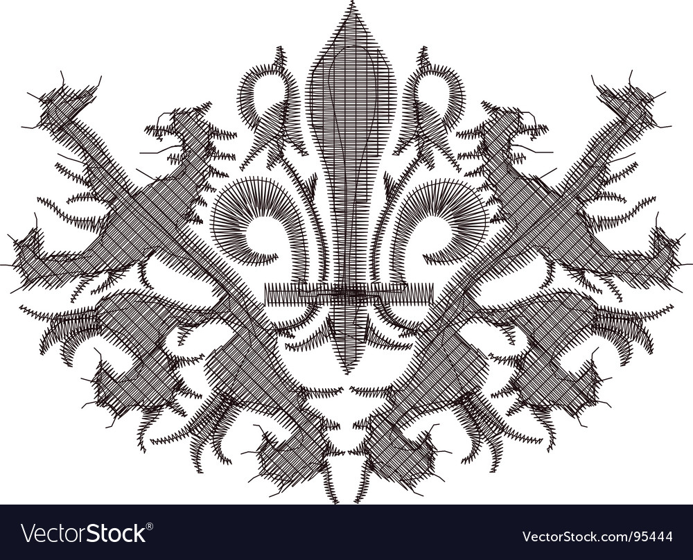 Heraldry embroidery vector | Price: 1 Credit (USD $1)