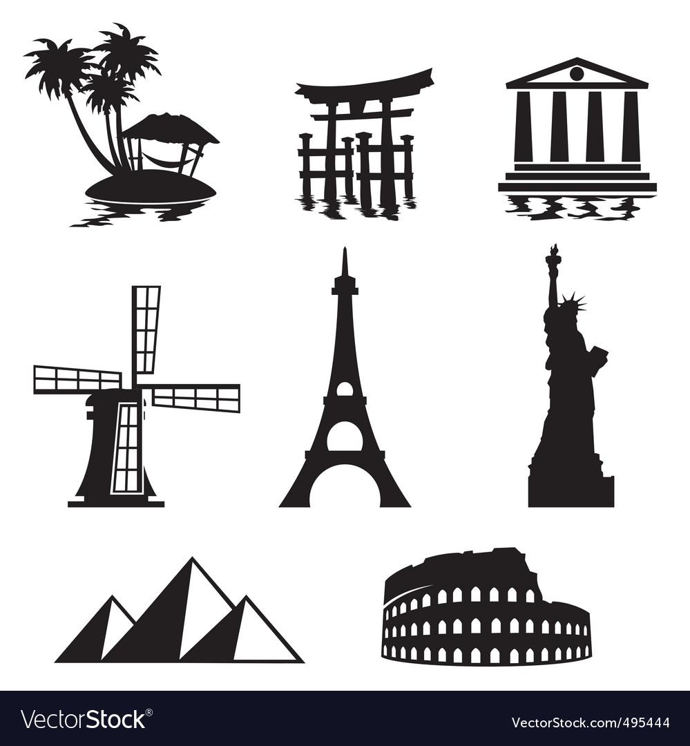 Landmark icons vector | Price: 1 Credit (USD $1)