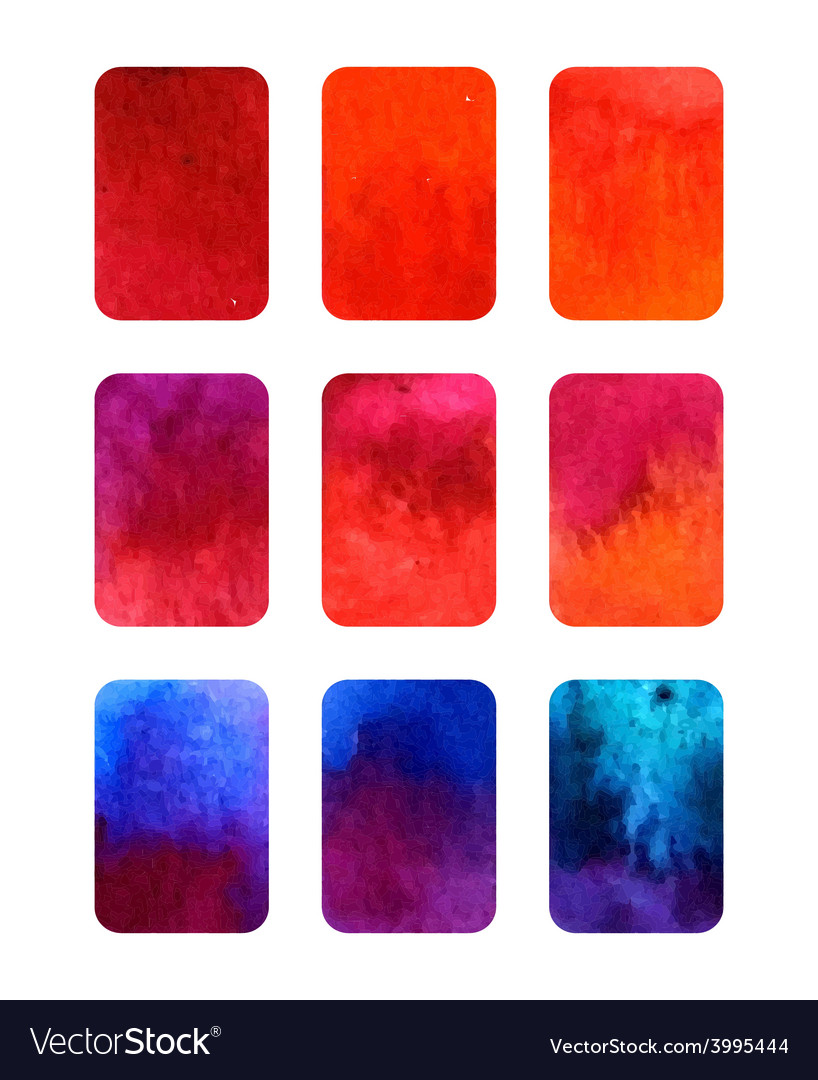 Set of gradient watercolor elements for vector | Price: 1 Credit (USD $1)