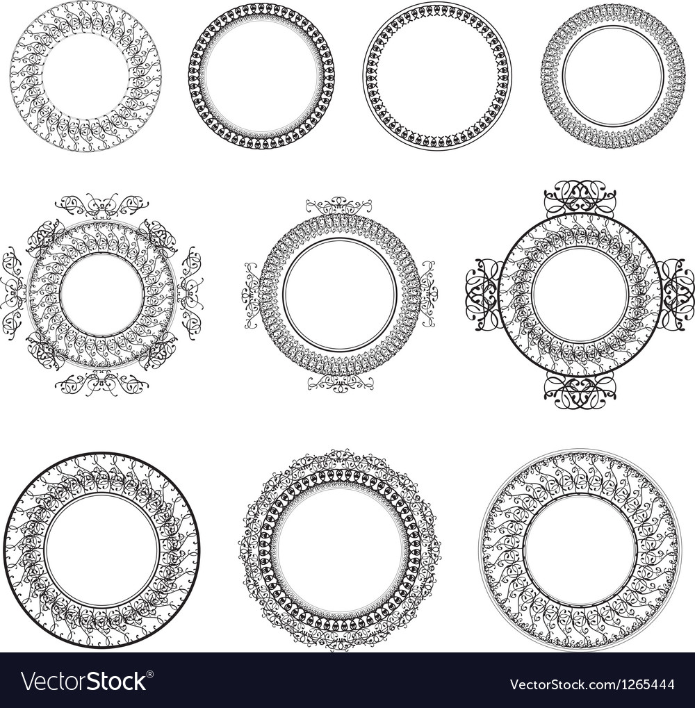 Vintage round frame vector | Price: 1 Credit (USD $1)
