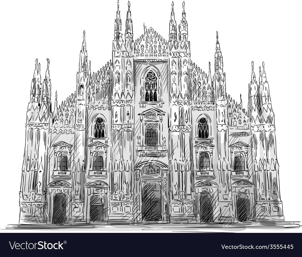 Duomo di milano vector | Price: 3 Credit (USD $3)