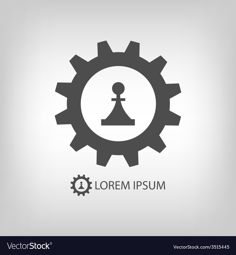 Gear wheel and piece as logo vector | Price: 1 Credit (USD $1)
