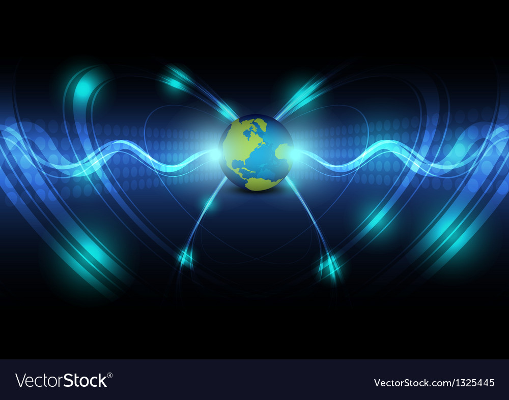 Global telecoms concept background vector | Price: 1 Credit (USD $1)