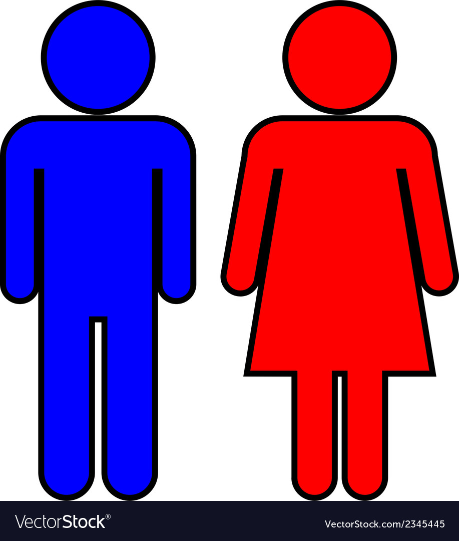 Male and female vector | Price: 1 Credit (USD $1)