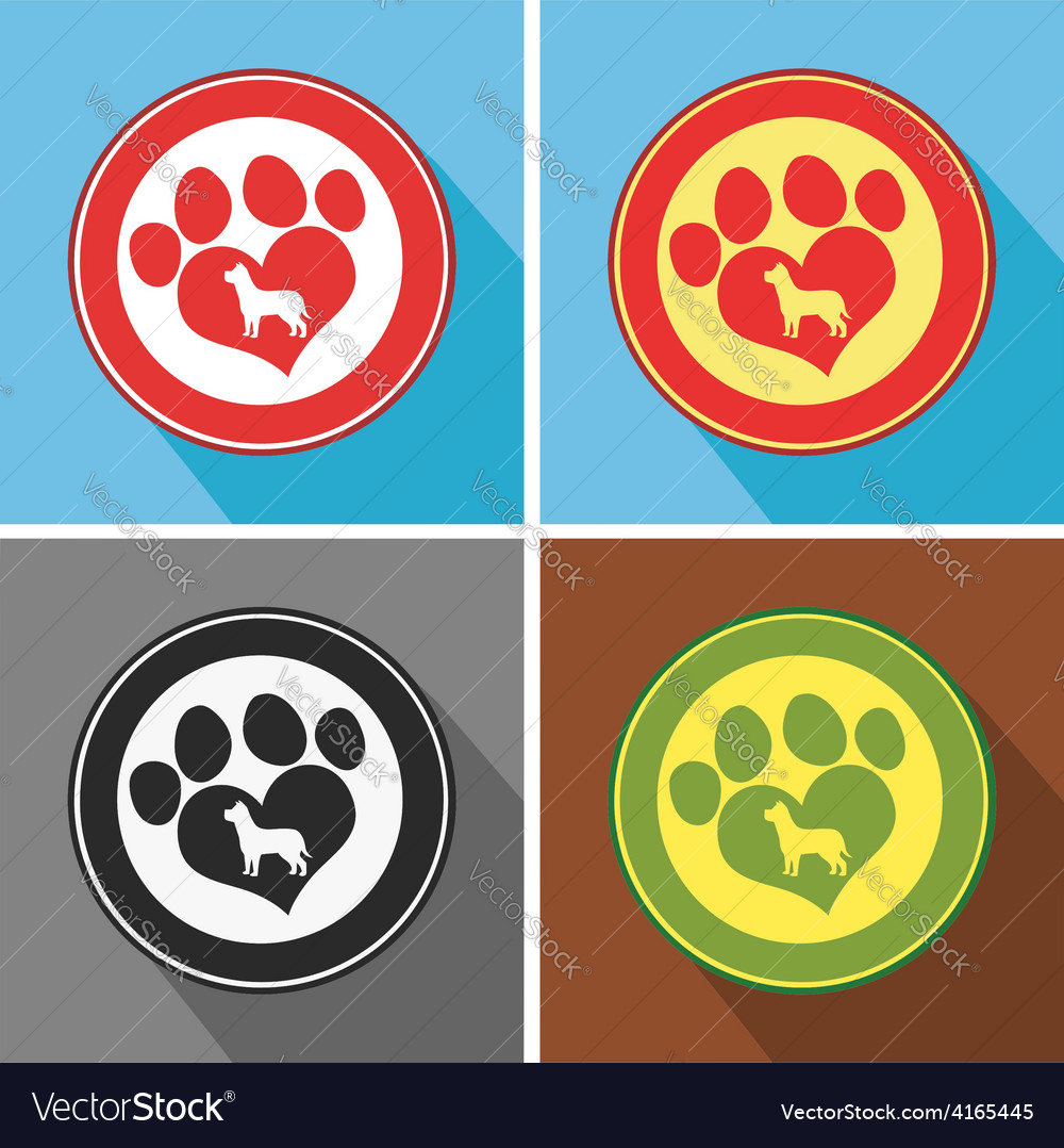 Paw mark icons vector | Price: 1 Credit (USD $1)