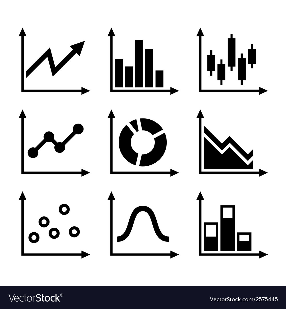 Simple set of diagram and graphs vector | Price: 1 Credit (USD $1)