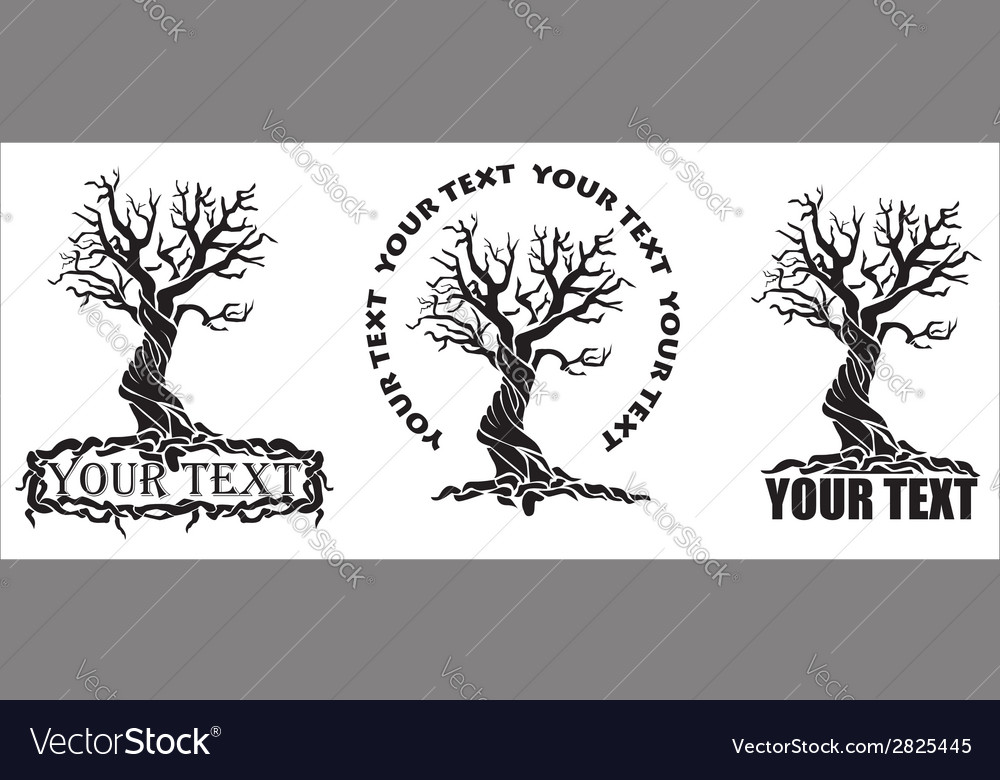 Stylized tree with text vector | Price: 1 Credit (USD $1)