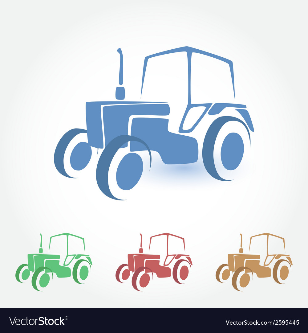 Tractor stylized icon vector | Price: 1 Credit (USD $1)