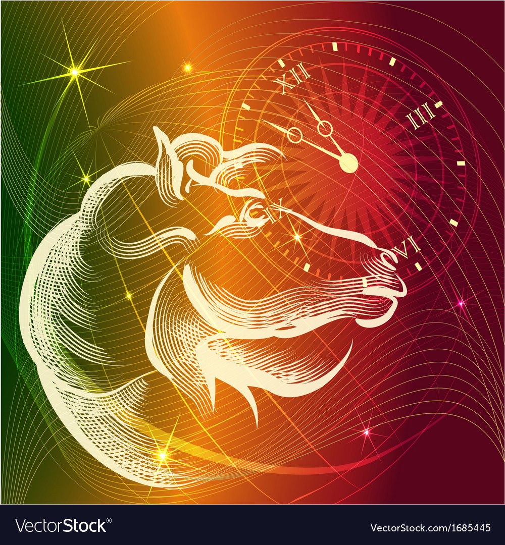 Year of the horse bright vector | Price: 1 Credit (USD $1)