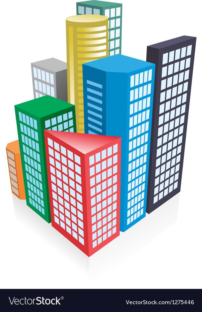 3d city concept vector | Price: 1 Credit (USD $1)