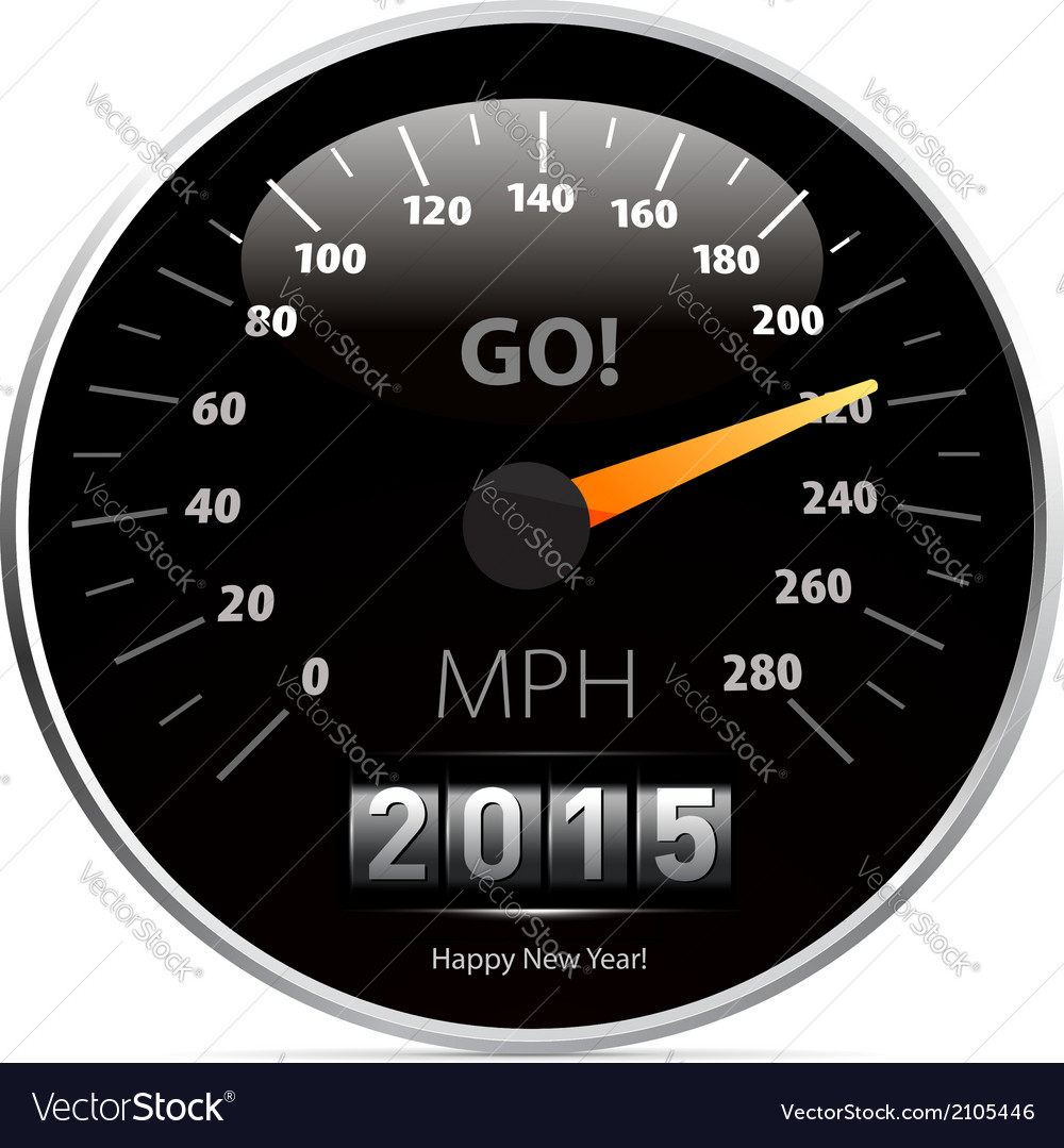 Calendar 2015 in speedometer car vector | Price: 1 Credit (USD $1)