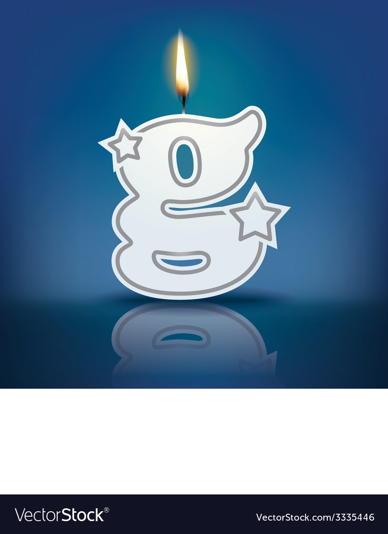 Candle letter g with flame vector | Price: 1 Credit (USD $1)