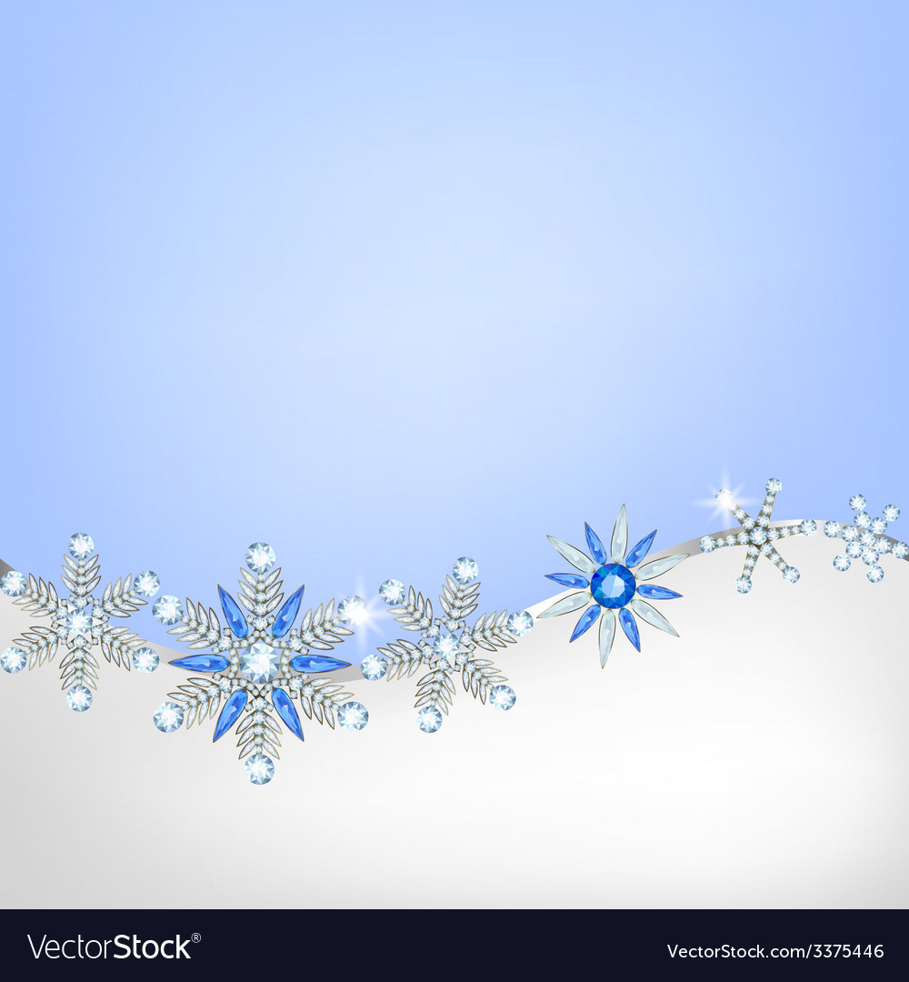 Diamond hanging snowflakes vector | Price: 1 Credit (USD $1)