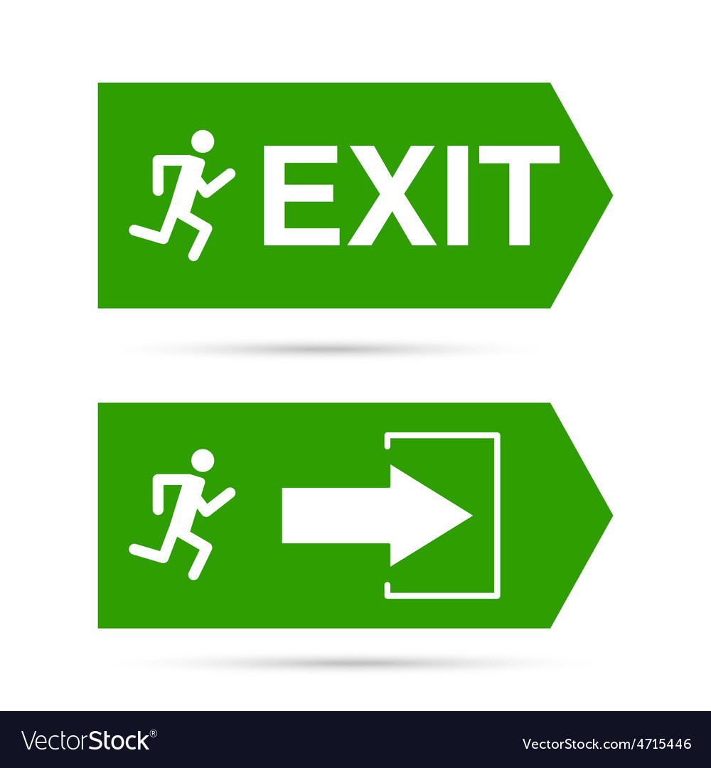 Emergency exit sign vector | Price: 1 Credit (USD $1)