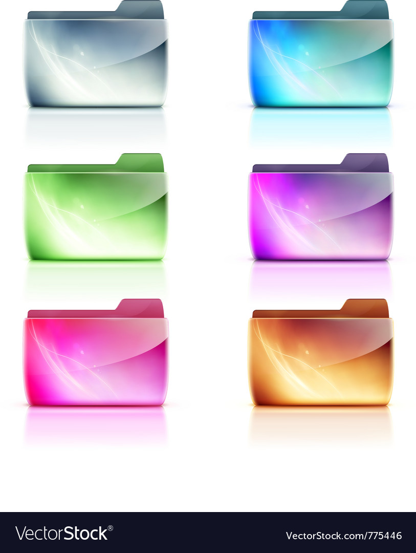 Folder icons vector | Price: 1 Credit (USD $1)