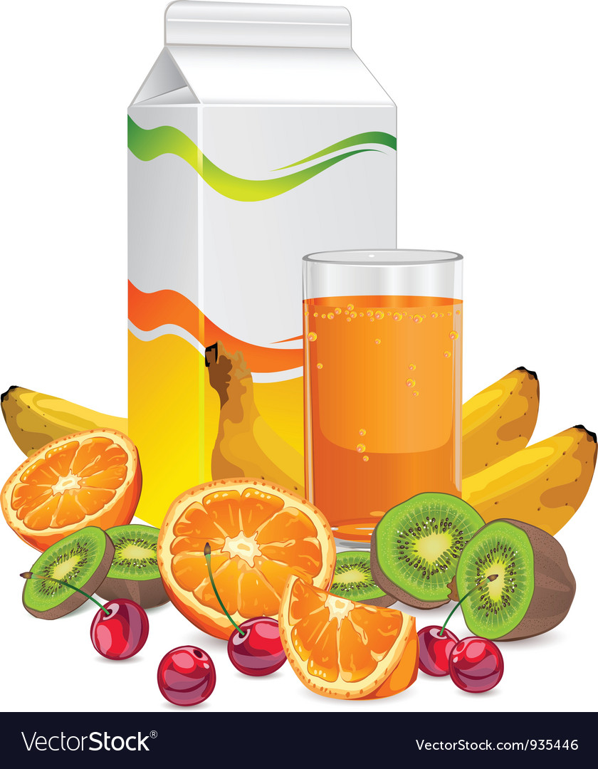 Fruit juice cup vector | Price: 3 Credit (USD $3)
