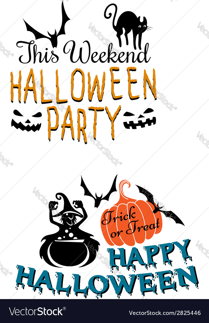 Halloweenscary banners vector | Price: 1 Credit (USD $1)