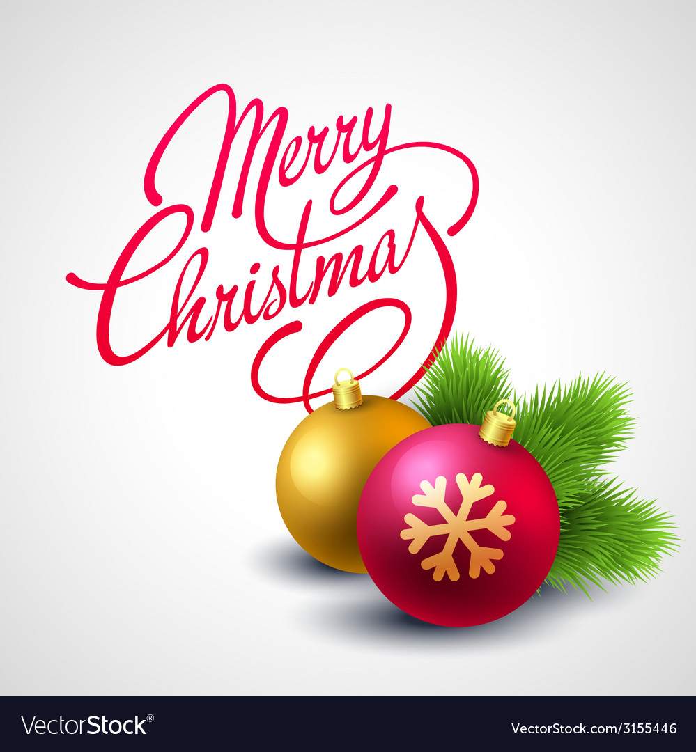 Merry christmas card with lettering vector   Price: 1 Credit (USD $1)