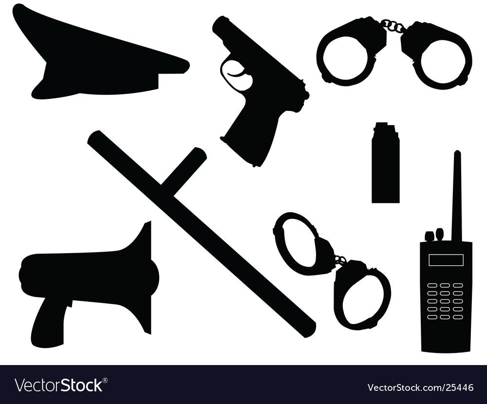 Police equipment vector | Price: 1 Credit (USD $1)