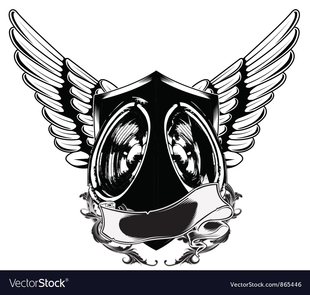 Speaker emblem vector | Price: 1 Credit (USD $1)